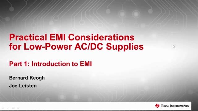 1- 小功率 AC / DC 电源 EMI 应用注意事项